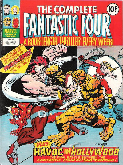 Cover for The Complete Fantastic Four (Marvel UK, 1977 series) #19