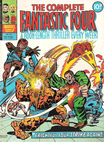 Cover for The Complete Fantastic Four (Marvel UK, 1977 series) #16