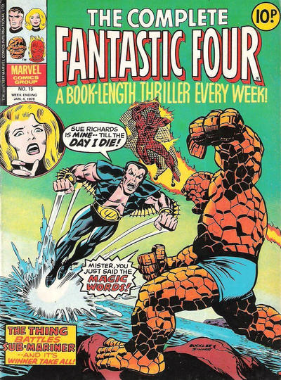 Cover for The Complete Fantastic Four (Marvel UK, 1977 series) #15