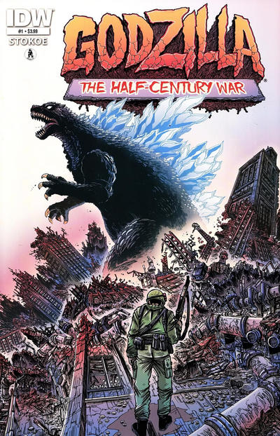 Cover for Godzilla: The Half-Century War (IDW, 2012 series) #1 [Cover RI Frank Teran]