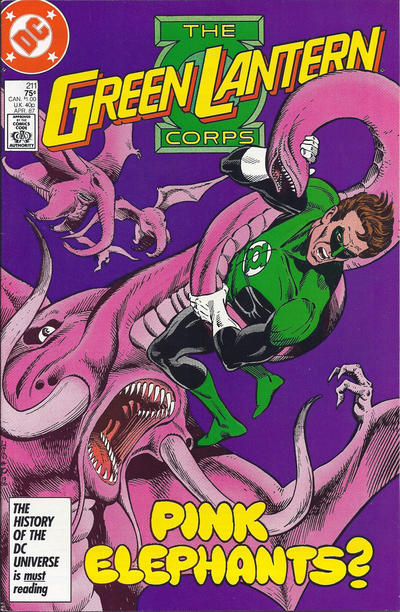 Cover for The Green Lantern Corps (DC, 1986 series) #211 [Newsstand Edition]