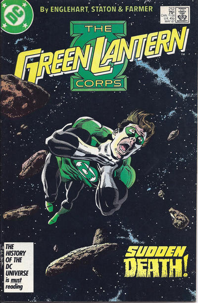 Cover for The Green Lantern Corps (DC, 1986 series) #212 [Newsstand Edition]