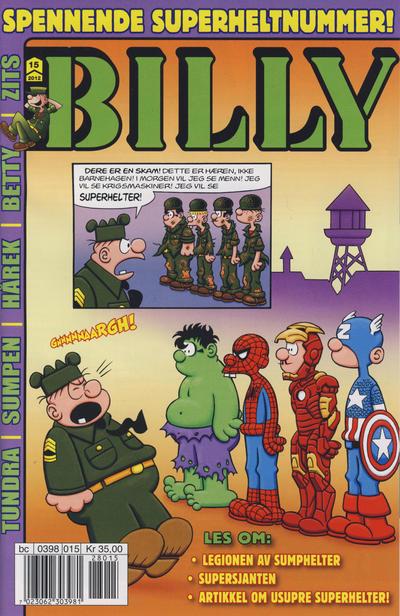 Cover for Billy (Hjemmet / Egmont, 1998 series) #15/2012