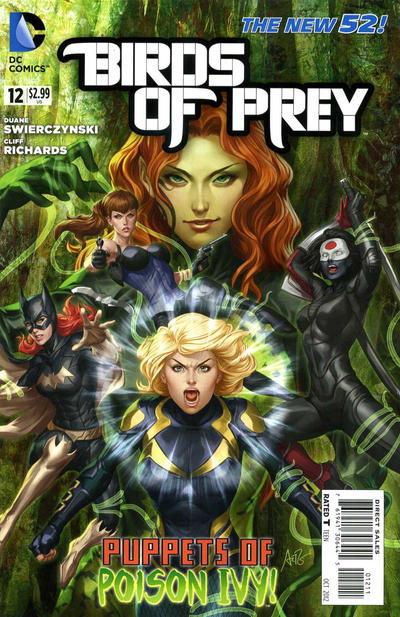 Cover for Birds of Prey (DC, 2011 series) #12