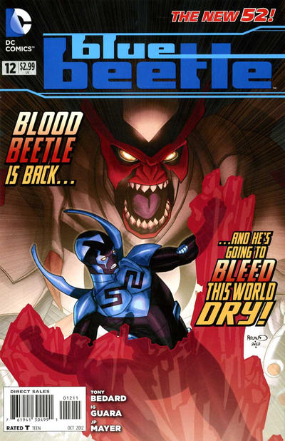 Cover for Blue Beetle (DC, 2011 series) #12