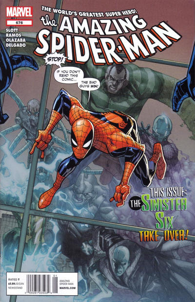 Cover for The Amazing Spider-Man (Marvel, 1999 series) #676 [direct edition]