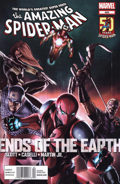 Cover for The Amazing Spider-Man (Marvel, 1999 series) #683 [2nd Printing Variant Cover]