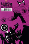 Cover for The Amazing Spider-Man (Marvel, 1999 series) #692 [Marcos Martin 2000s Decade (Purple)]