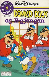 Cover Thumbnail for Donald Pocket (Hjemmet / Egmont, 1968 series) #6 - Donald Duck og B-gjengen [5. opplag Reutsendelse 330 90]