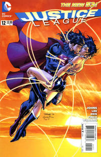 Cover for Justice League (DC, 2011 series) #12 [Superman & Wonder Woman cover]