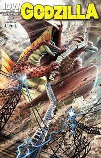 Cover Thumbnail for Godzilla (IDW, 2012 series) #4 [Cover RI Jeff Zornow]