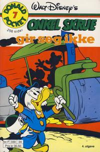 Cover Thumbnail for Donald Pocket (Hjemmet / Egmont, 1968 series) #7 - Onkel Skrue gir seg ikke [4. opplag Reutsendelse 330 34]