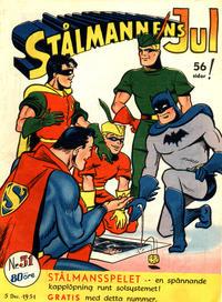 Cover Thumbnail for Stålmannen (Centerförlaget, 1949 series) #51/1951