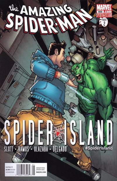 Cover for The Amazing Spider-Man (Marvel, 1999 series) #668 [2nd Printing Variant Cover]