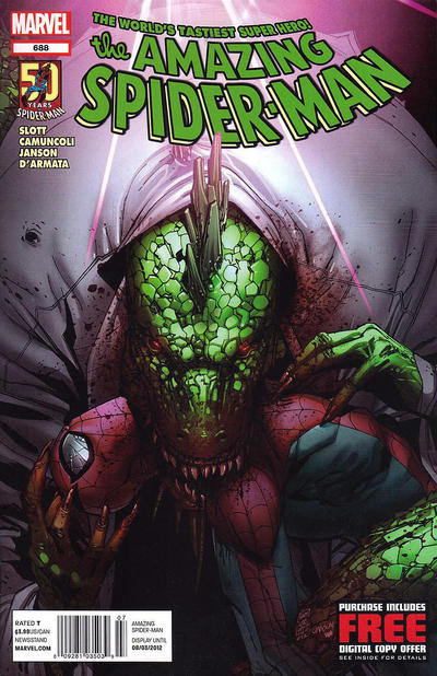 Cover for The Amazing Spider-Man (Marvel, 1999 series) #688 [Lizard Variant]