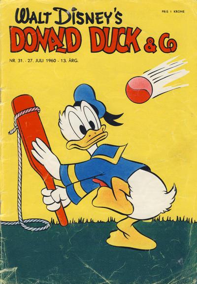 Cover for Donald Duck & Co (Hjemmet / Egmont, 1948 series) #31/1960