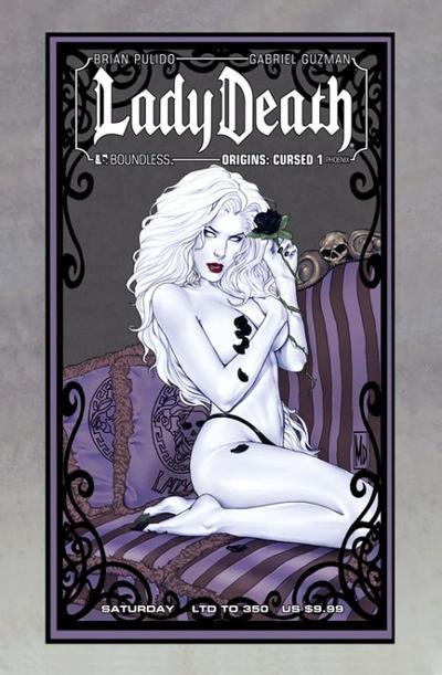 Cover for Lady Death Origins: Cursed (Avatar Press, 2012 series) #1 [Phoenix Comic-con VIP variant]