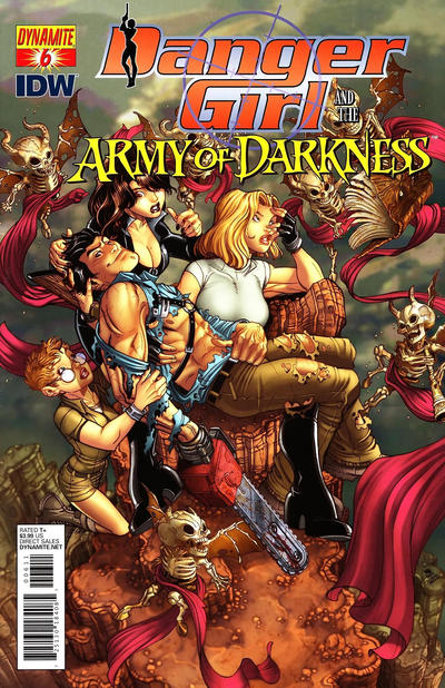 Cover for Danger Girl and the Army of Darkness (Dynamite Entertainment, 2011 series) #6 [Paul Renaud Cover]