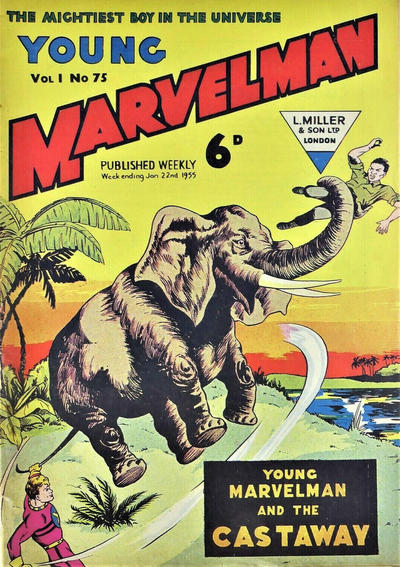 Cover for Young Marvelman (L. Miller & Son, 1954 series) #75