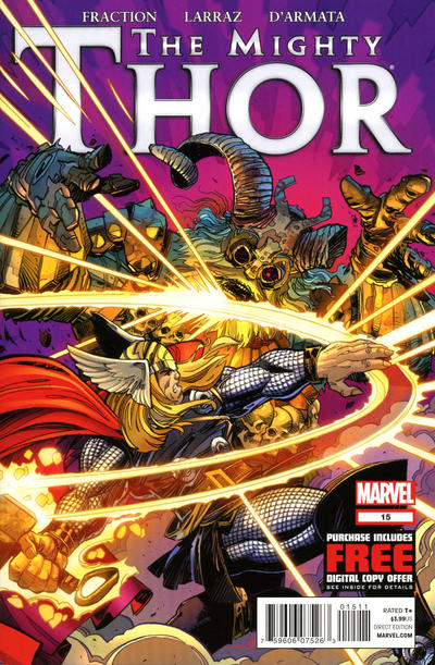 Cover for The Mighty Thor (Marvel, 2011 series) #15 [Spider-Man In Motion Variant Cover by John Tyler Christopher]