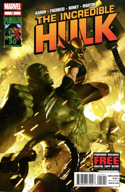 Cover for The Incredible Hulk (Marvel, 2011 series) #12