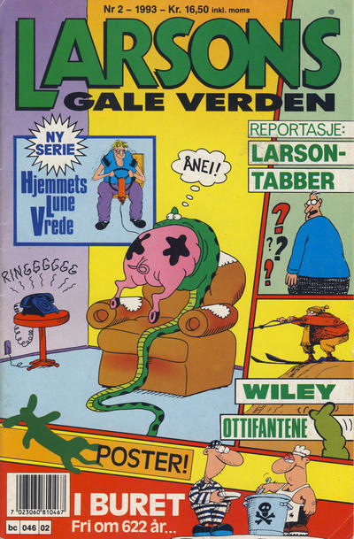 Cover for Larsons gale verden (Bladkompaniet, 1992 series) #2/1993