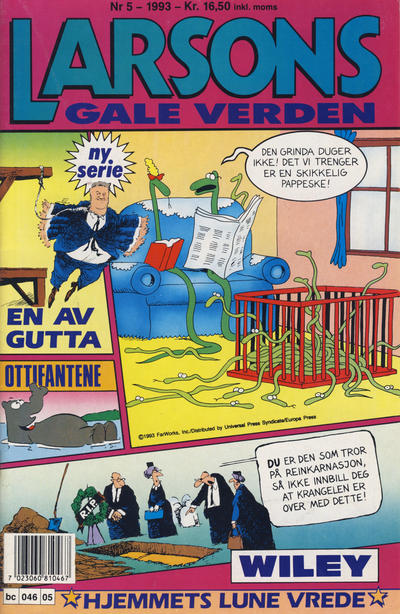 Cover for Larsons gale verden (Bladkompaniet, 1992 series) #5/1993