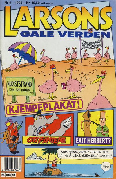 Cover for Larsons gale verden (Bladkompaniet, 1992 series) #4/1993