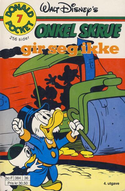 Cover for Donald Pocket (Hjemmet / Egmont, 1968 series) #7 - Onkel Skrue gir seg ikke [4. opplag]