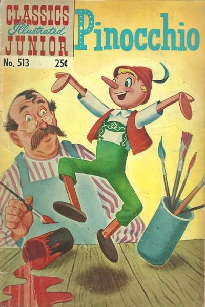 Cover for Classics Illustrated Junior (Gilberton, 1953 series) #513 [25 cent reprint]