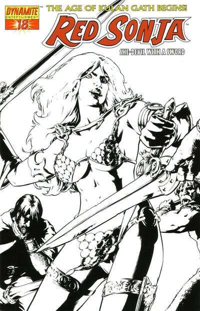 Cover for Red Sonja (Dynamite Entertainment, 2005 series) #18 [Aaron Lopresti]