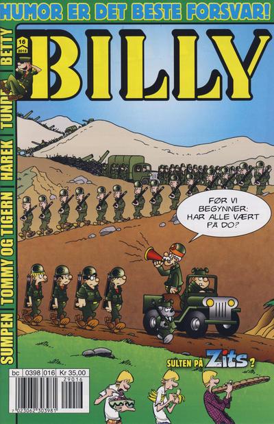 Cover for Billy (Hjemmet / Egmont, 1998 series) #16/2012