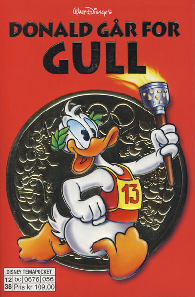 Cover for Donald Duck Tema pocket; Walt Disney's Tema pocket (Hjemmet / Egmont, 1997 series) #[52] - Donald går for gull