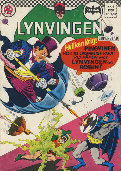 Cover for Lynvingen (Serieforlaget / Se-Bladene / Stabenfeldt, 1966 series) #4/1968