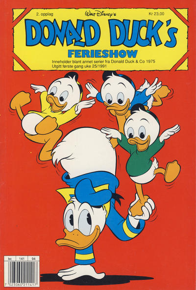 Cover for Donald Ducks Show (Hjemmet / Egmont, 1957 series) #[71] - Ferieshow 1991 [Reutsendelse (2. opplag)]