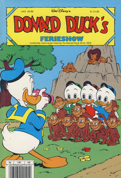 Cover for Donald Duck's Show (Hjemmet, 1957 series) #ferieshow 1990