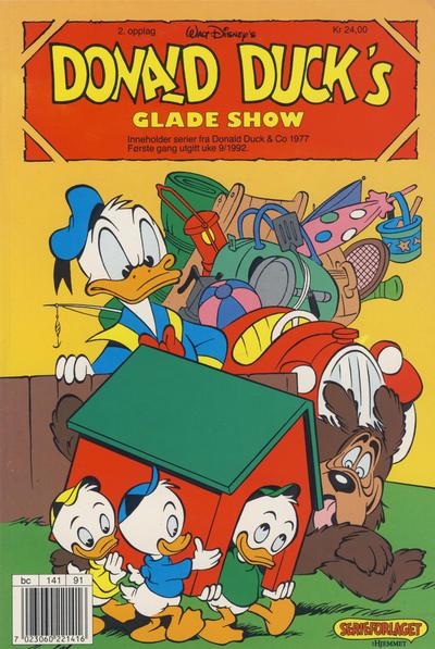 Cover for Donald Ducks Show (Hjemmet / Egmont, 1957 series) #[74] - Glade show 1992 [Reutsendelse (2. opplag)]