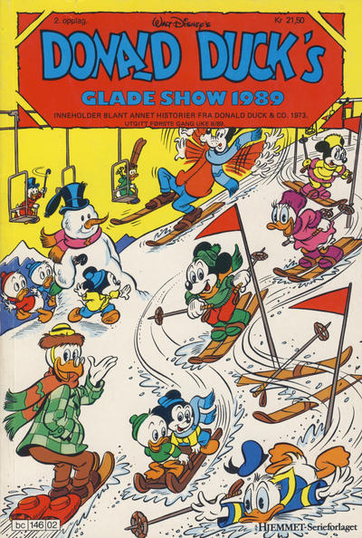 Cover for Donald Ducks Show (Hjemmet / Egmont, 1957 series) #[62] - Glade show 1989