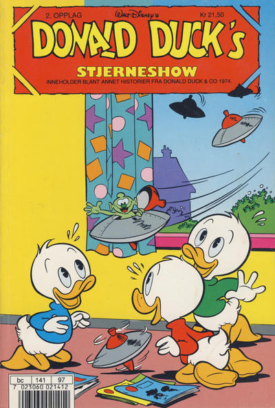 Cover for Donald Duck's Show (Hjemmet, 1957 series) #stjerneshow 1990