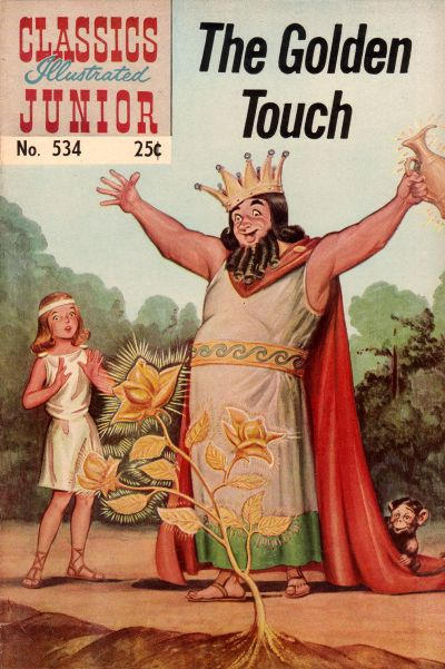 Cover for Classics Illustrated Junior (Gilberton, 1953 series) #534 - The  Golden Touch