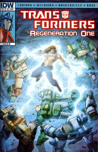 Cover Thumbnail for Transformers: Regeneration One (IDW, 2012 series) #83 [Cover A - Andrew Wildman]