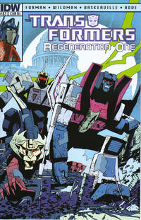 Cover Thumbnail for Transformers: Regeneration One (IDW, 2012 series) #83 [Cover RI - Incentive Geoff Senior Variant]