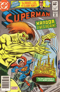 Cover Thumbnail for Superman (DC, 1939 series) #371 [Newsstand]