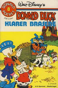 Cover Thumbnail for Donald Pocket (Hjemmet / Egmont, 1968 series) #8 - Donald Duck klarer brasene [2. opplag]