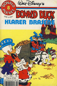 Cover Thumbnail for Donald Pocket (Hjemmet / Egmont, 1968 series) #8 - Donald Duck klarer brasene [3. opplag Reutsendelse 330 15]