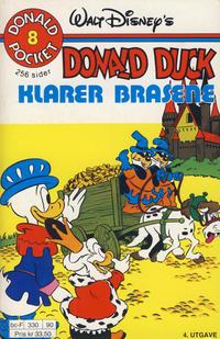 Cover Thumbnail for Donald Pocket (Hjemmet / Egmont, 1968 series) #8 - Donald Duck klarer brasene [4. opplag Reutsendelse 330 90]