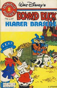 Cover Thumbnail for Donald Pocket (Hjemmet / Egmont, 1968 series) #8 - Donald Duck klarer brasene [4. opplag]