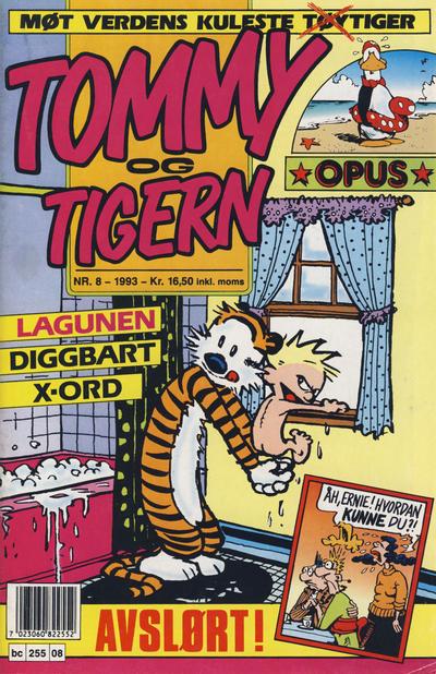 Cover for Tommy og Tigern (Bladkompaniet / Schibsted, 1989 series) #8/1993