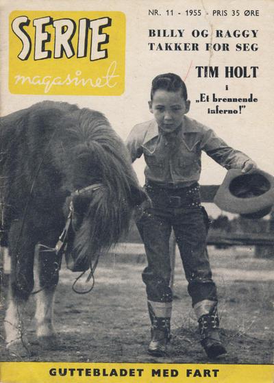 Cover for Seriemagasinet (Serieforlaget / Se-Bladene / Stabenfeldt, 1951 series) #11/1955