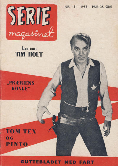 Cover for Seriemagasinet (Serieforlaget / Se-Bladene / Stabenfeldt, 1951 series) #15/1955